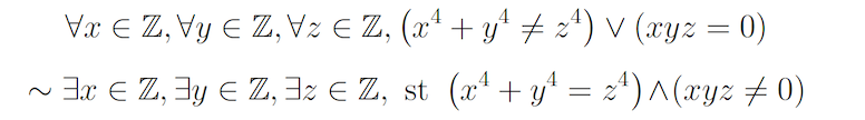 Two statements of Fermat's Last Theorem using first order logic goes here'.